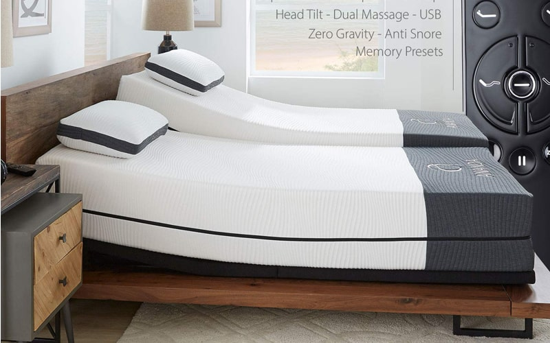Blissful Nights Amanda Mattress with Adjustable Bed
