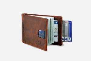 Best Slim Bifold: SERMAN BRANDS Slim Bifold Leather Credit Card Holder Wallet