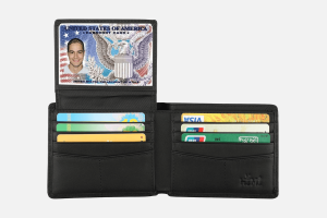 Best Trifold: HIMI Leather Trifold Credit Card Holder Wallet
