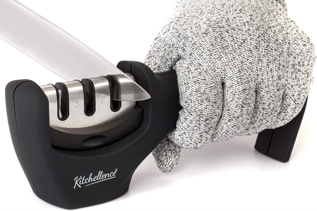 Best Easy to Use KITCHELLENCE 3-Stage Kitchen Knife Sharpener