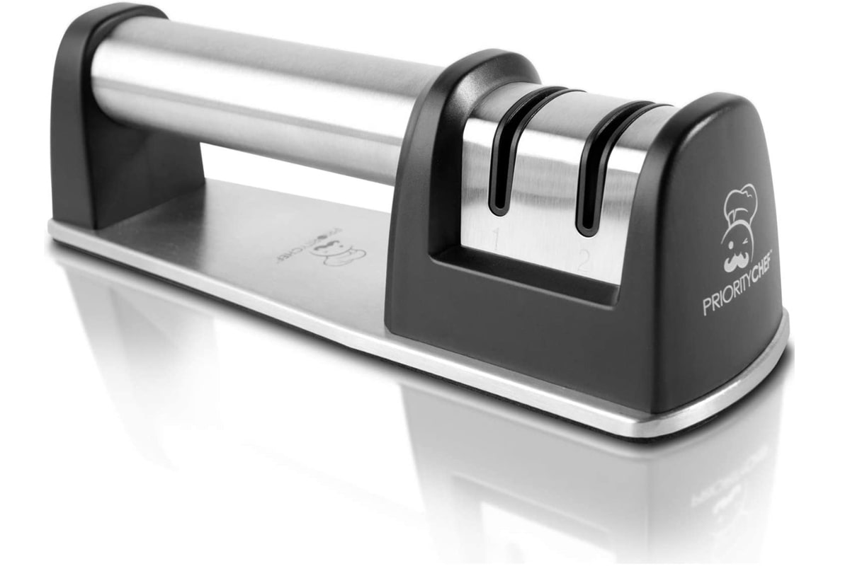 Best Entry-Level Manual Sharpener: PriorityChef 2-Stage Diamond Coated Knife Sharpener