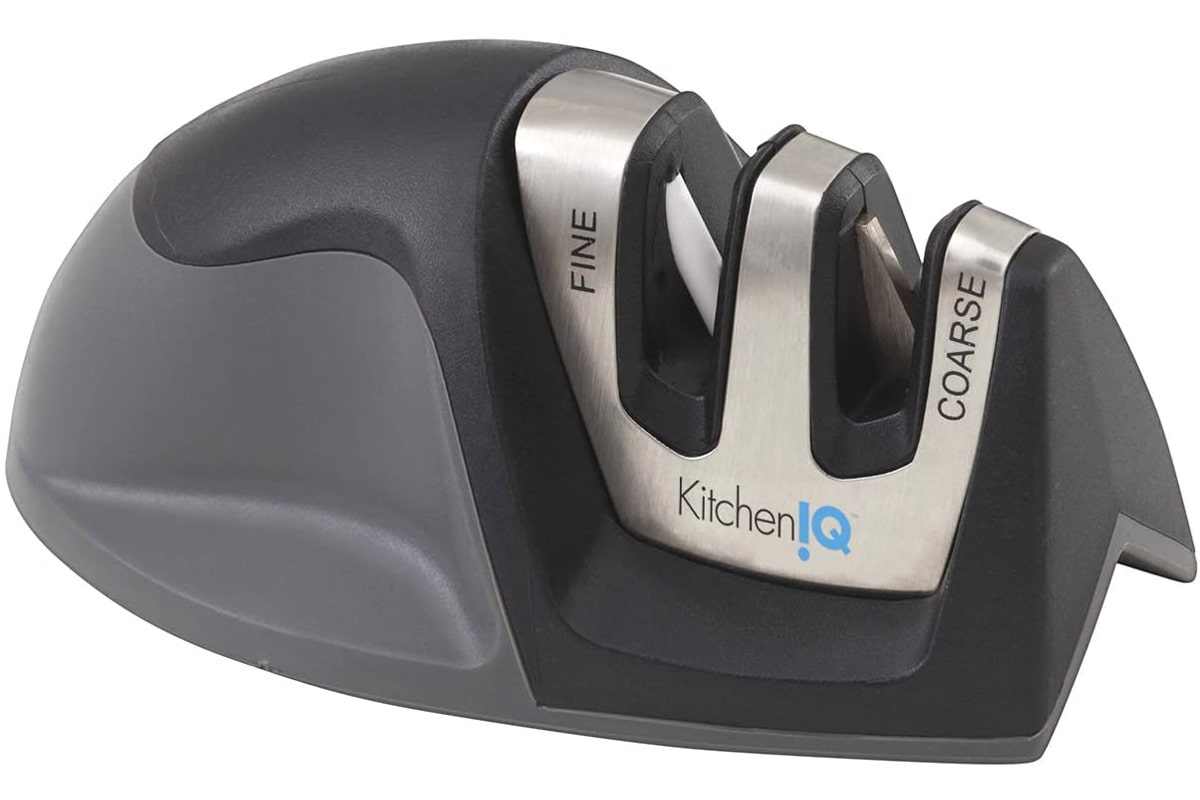 Best Budget-Friendly Sharpener: KitchenIQ Edge Grip 50009 2-Stage Black Knife Sharpener