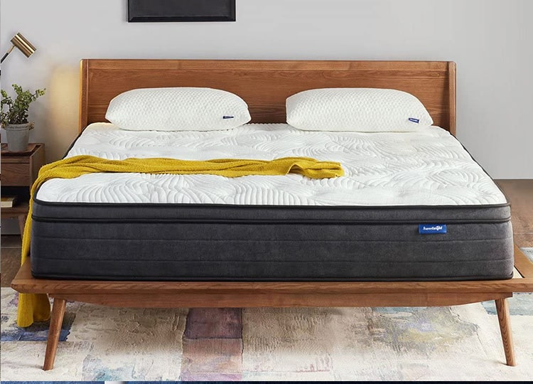 "Best for Weighty Users Sweetnight 12"" Top Hybrid King Mattress"