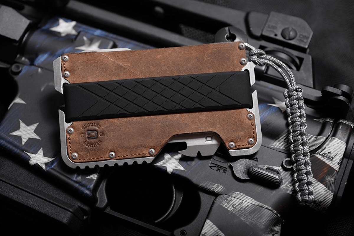 Best Multitool: Dango T01 Tactical-EDC Genuine Leather Minimalist Wallet
