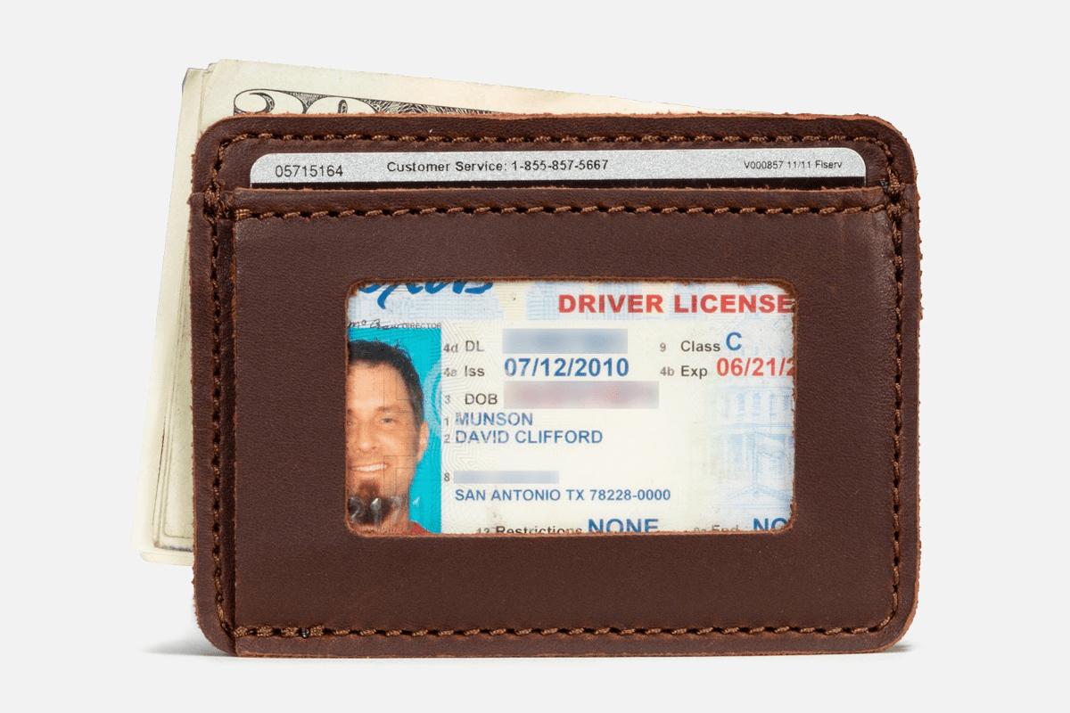 Best Front Pocket: Saddleback Leather Co. Slim Full-Grain Minimalist Wallet
