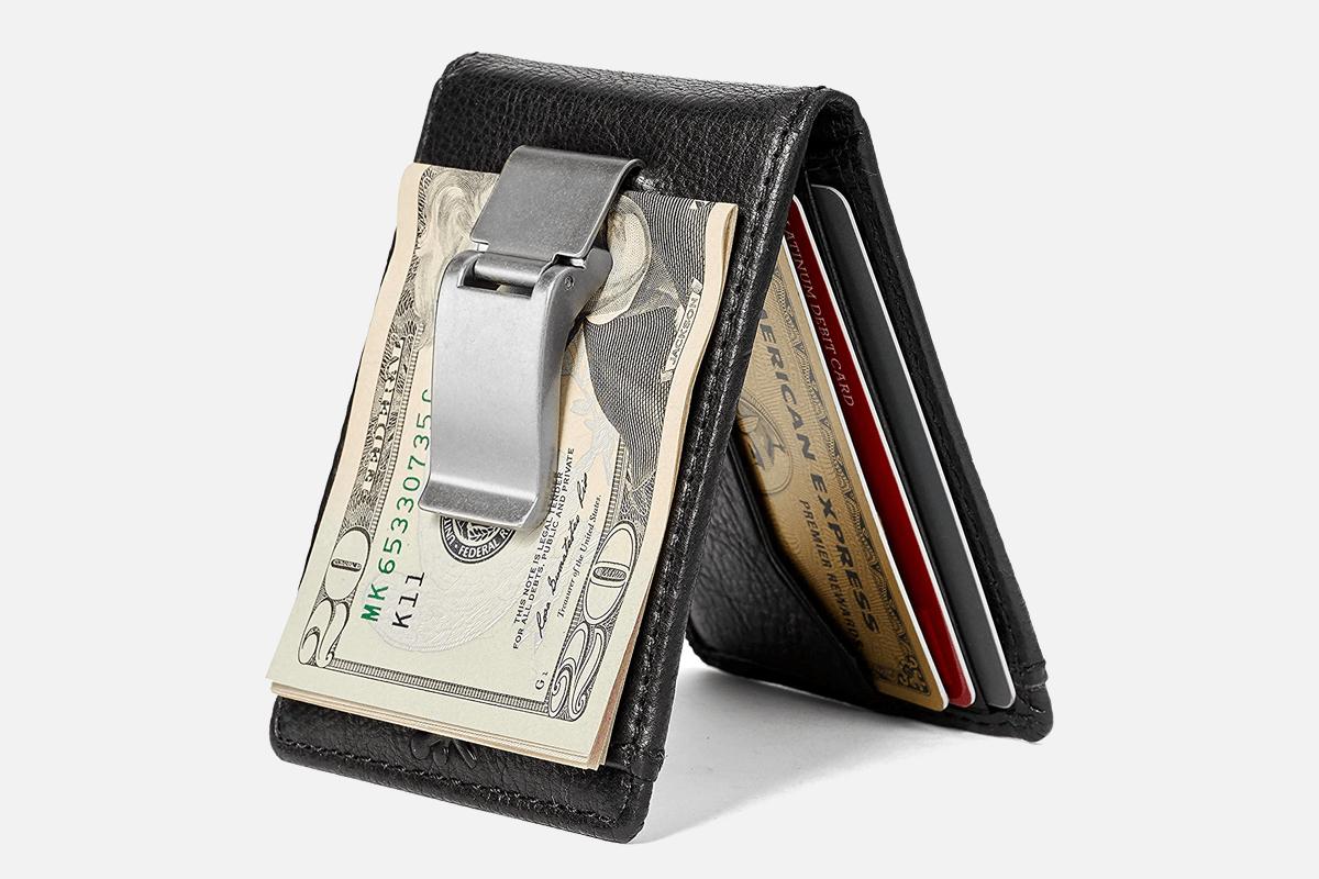 Best Bifold Clip: HoJ Co. DEACON ID Bifold-Minimalist Money Clip Wallet