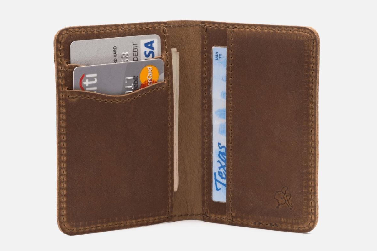 Best Thin Bifold: Saddleback Leather Co. Bifold-Minimalist Wallet