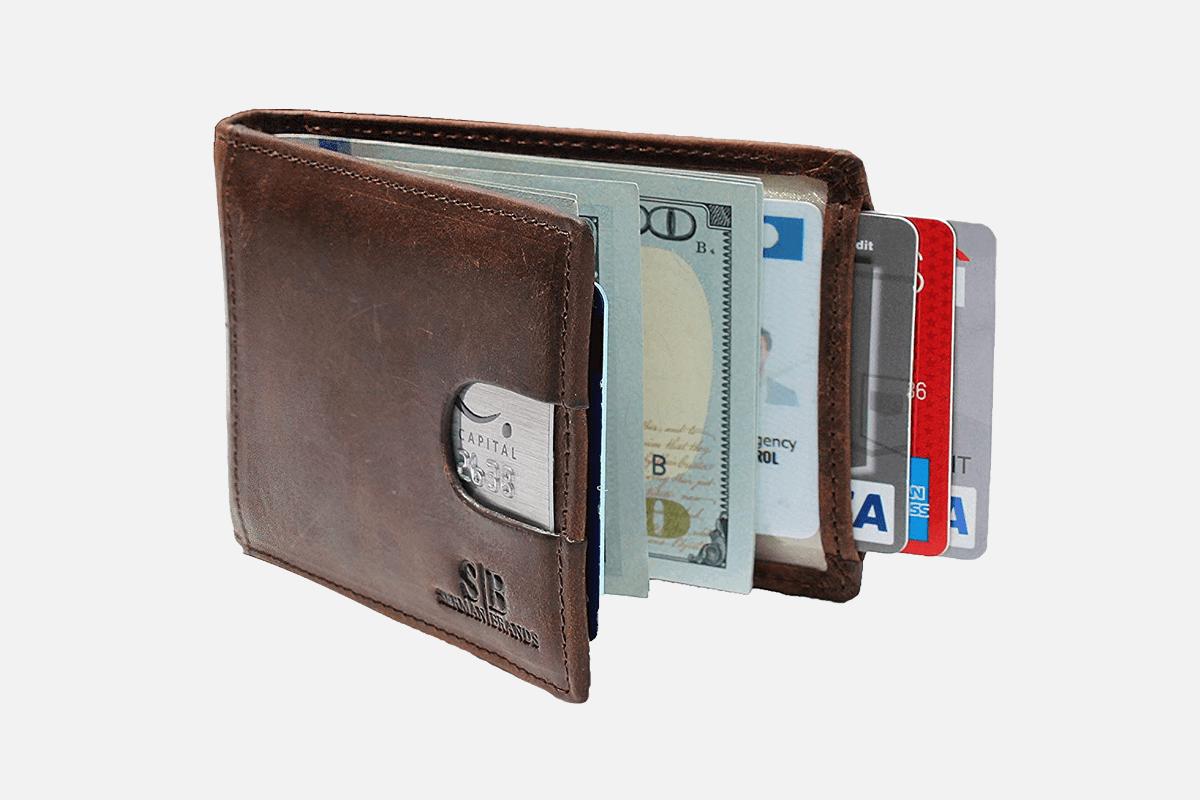Best Slim Bifold: SERMAN BRANDS Front Pocket Bifold Minimalist Wallet