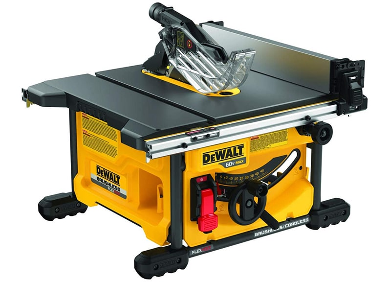 Best Designed Table Saw: DEWALT-FLEXVOLT 60V MAX-Table Saw