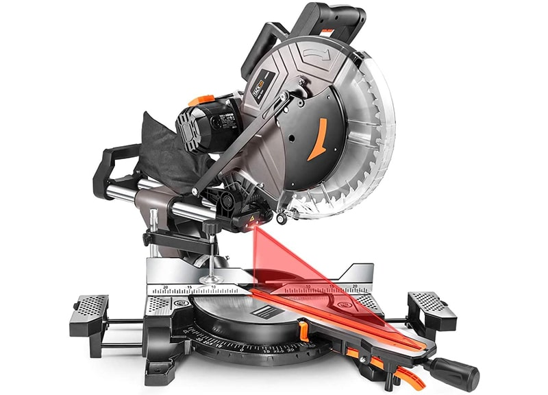 Best Compound Table Saw: TACKLIFE-Sliding Miter Saw-12-Inch, 15-Amp Miter Saw