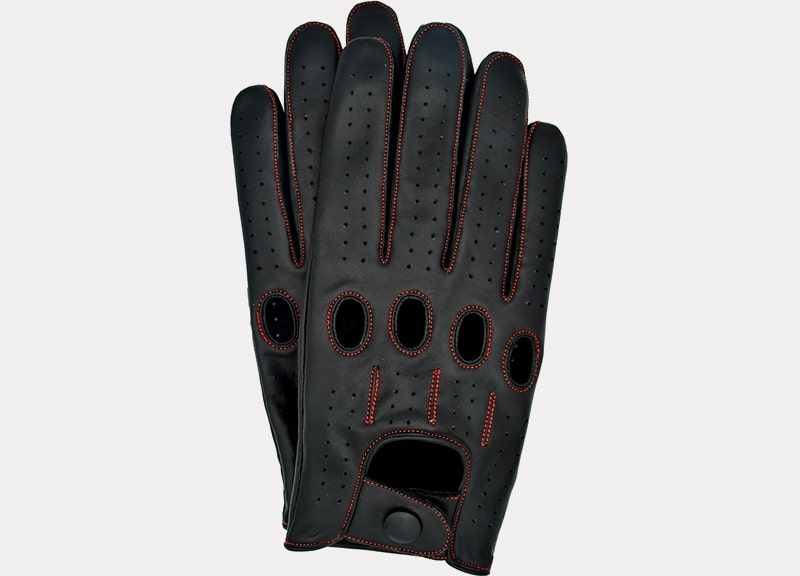 Riparo Genuine Leather Full Finger Driving Gloves