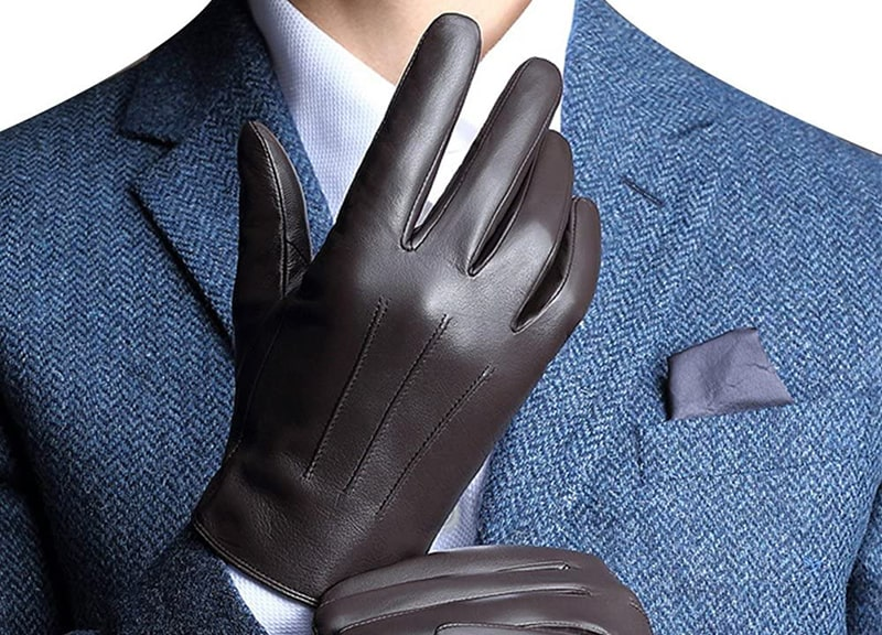 Harrms Leather Gloves For Men Full Hand Touchscreen