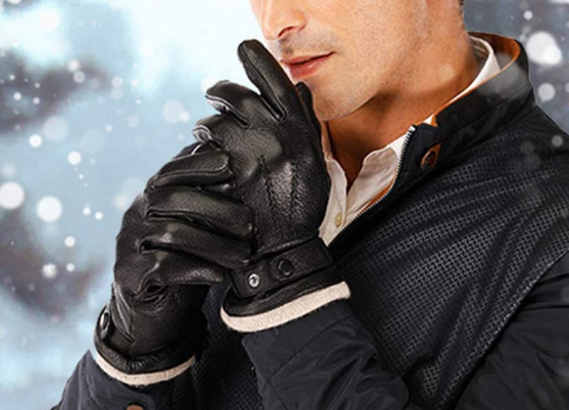 Acdyion Men's Genuine Leather Gloves Touchscreen, Driving Gloves
