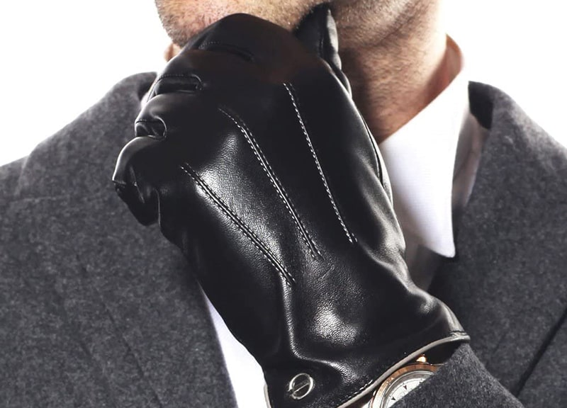 ELMA Winter Leather Gloves for Men