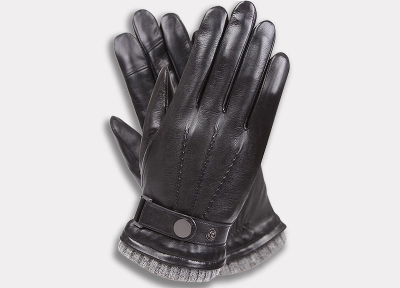 WARMEN Winter Warm Leather Driving Gloves for Men