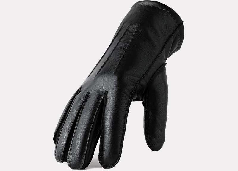 FEIQIAOSH Genuine Leather Gloves for Men Winter