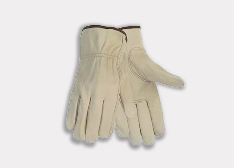 Toledano industries 12 Pair Large Leather Work Gloves for Men