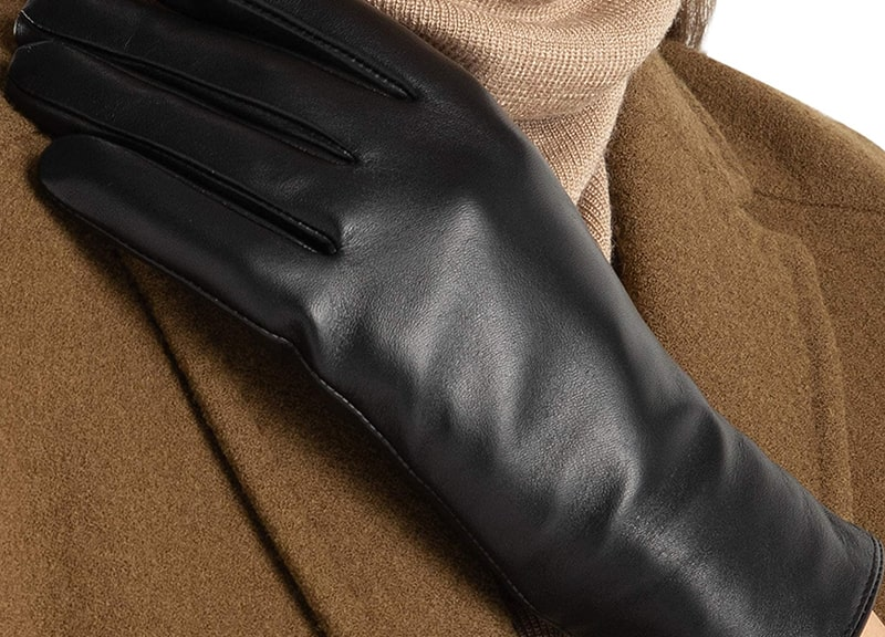 FEIQIAOSH Super-Soft Women's Leather Gloves Winter
