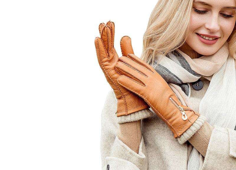 YISEVEN Women's Deerskin Leather Gloves
