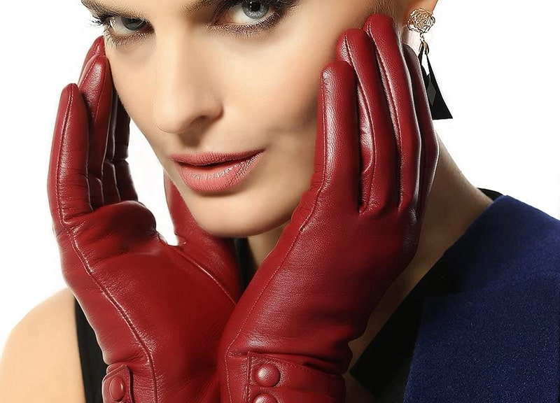 WARMEN Women's Touchscreen Leather Gloves Winter