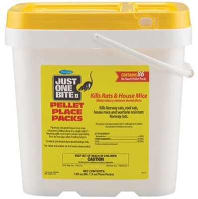 Farnam Just One Bite 11 1.5 Ounce Pellet Packs Rats and House Mice Bait