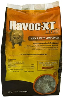 Neogen Havoc XT Rat house mice and Mouse Bait