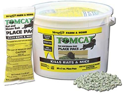 MOTOMCO Tomcat 3-Ounce, 22 Count Pail Rat and Mouse Bait