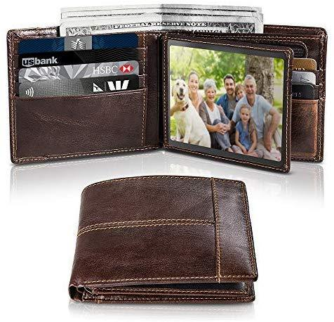 Best for Dad: Swallowmall RFID Leather Bifold Credit Card Holder Wallets with Gift Box