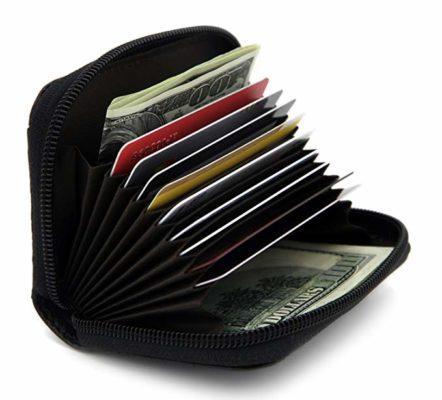 Best Security: Zhoma RFID Blocking Genuine Leather Credit Card Holder